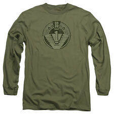 STARGATE SG1 DISTRESSED Licensed Men's Long Sleeve Graphic Tee Shirt SM-2XL