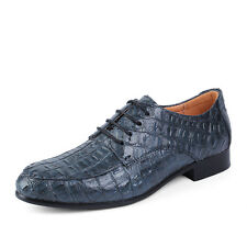 Mens Croco Alligator Pattern Lace up Pump Formal Dress Business Shoes US 6-11