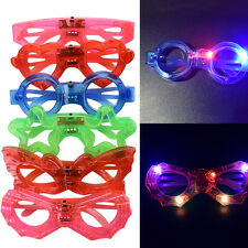 Assort Flashing LED Light Up Glasses Blinking Sunglasses Rave Party Xmas