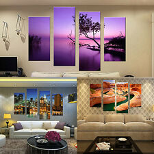 4 Pcs Frameless Canvas Painting Pictures Freehand Living Room Art Decor Goodish