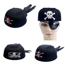 Halloween Pirate Jack Captain Head Scarf Hat Dome Pirate Cap Cospaly Costume