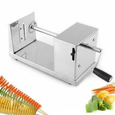 Manual Stainless Steel Twisted Potato Slicer French Fry Vegetable Cutter  I5@@