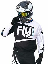 Fly Racing Black-White 2017 F-16 MX Jersey