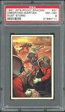 1951 Bowman Jets, Rockets, Spacemen #31 Observing Martian Dust Storm, PSA 8