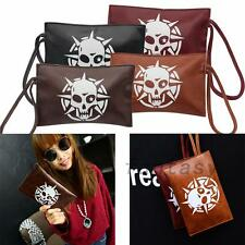Gothic Skull PU Leather Cash Coin Mobile Phone Bag Case Wallet Purse Accessory