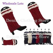 Wholesale Lot Women Crochet Knitted Lace Trim Boot Cuffs Toppers Leg Warmer Xmas
