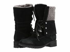 Women's Shoes UGG Gradin Lace Up Fold-Down Combat Boots 1013421 Black *New*