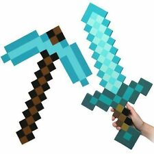 Minecraft Large Blue Sword Pickaxe axe EVA Weapons Plush  soft toys