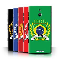 STUFF4 Back Case/Cover/Skin for Sony Xperia P/LT22i/Football Emblem