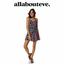 Womens All About Eve Glorious Dress Mini Floral Print Summer Aussie Flow Casual