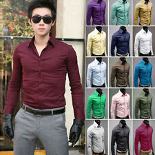 Men's Stylish Business Casual Dress Slim Fit Shirt Luxury T-shirt Top Size M-3XL
