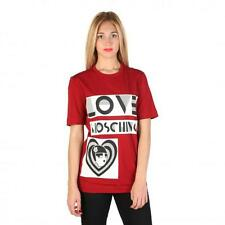Love Moschino Clothing Women T-shirts Red 74771 Outlet BDX