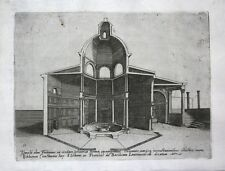 1569 Temple of Fortune Roma Rome incisione etching Kupferstich Dosio