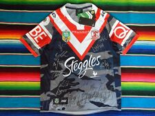 Signed 2016 SYDNEY ROOSTERS Anzac NRL Jersey PROOF COA