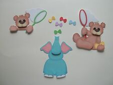 3D - U Pick -Elephun Game bear Elephant Scrapbook Card Embellishment 219