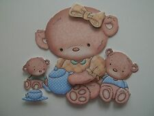 3D - U Pick - Tea Party Girl Bear Playing Scrapbook Card Embellishment