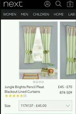 NEXT Jungle curtains black out lined 46