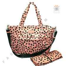 Marc By Marc Jacobs Spring Peach Multi Dots Nylon Diaper Bag/ Tote #M0006185 $29