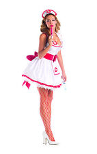 Sexy Adult Halloween Party King Women's Naughty Nurse Costume