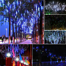 Meteor Shower Falling Rain Drop Snow Icicle Xmas Tree Party String Lights Decor