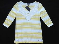 NWT Tommy Hilfiger Women's 3/4 Sleeve Striped Knit Top Size: XS, S, M