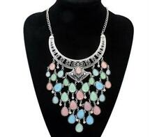 New Atmosphere Chain gem Fashion Pendant Necklace Metal Bohemian Statement