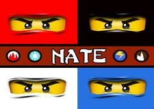 Ninjago Personalised Placemat (A4 Size Photo Laminate) great gift