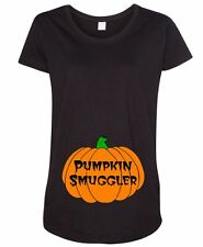 Cute Halloween Pumpkin Smuggler Funny Mommy to Be Mom Costume Maternity T-Shirt