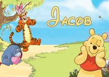 Pooh and Friends Personalised Placemat (A4 Size Photo Laminate) great gift