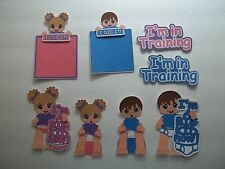 3D-U Pick - BA3 Boy Girl Baby Potty Training Title Scrapbook Card Embellishment