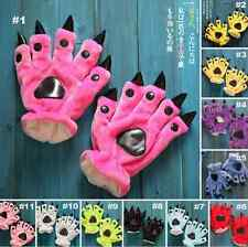 Unisex Onesie Animal Warm Plush Furry Gloves Kigurumi Cosplay Claw Paw Prop