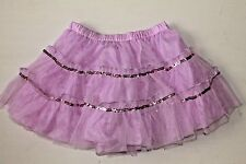 NWOT Toby NYC Girls 4-6X Purple Mesh Sequin Tutu Ruffle Skirt