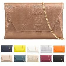 Ladies Snakeskin Envelope Clutch Bag Evening Bag Snake Skin Handbag Purse KA822