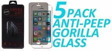 5x Anti Spy Privacy Tempered Glass Screen Protector For Apple iPhone 5 5S 5C SE