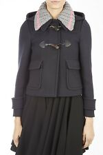 Miu Miu Jacket Coat -25% MONTGOMERY Woman Blues ML396LC0F0008-