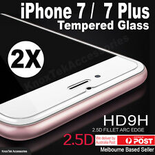2x Premium Tempered Glass Screen Protector Film for Apple iPhone 7 / 7 Plus