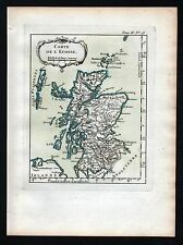 1764 - Scotland Schottland engraving Kupferstich Bellin Karte map carte