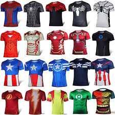 Superheroes Compression T-shirt Men Cosplay Costume Shirt Cycling Jersey Tee Top