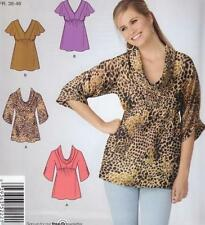 Simplicity 2221 - Size 10-18 - MISSES Easy to Sew Pullover TOPS with variations