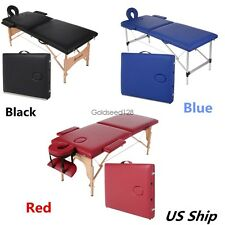 Luxury 84''2 Fold Portable Facial SPA Bed Massage Table Tattoo w/Free Carry Case