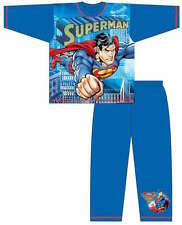 Boys Childrens DC Superman Superhero Sublimation Nightwear Pyjamas Pj Set