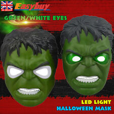 Halloween Hulk Led Light Up Mask Kids Cosplay Toy  for Party Costume New