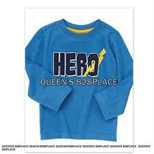 Nwt Crazy 8 boys size 5 5T blue hero t-shirt top long sleeve Twims new