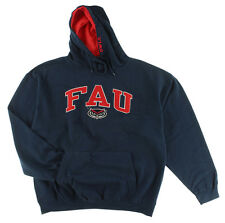Old Varsity Mens Florida Atlantic Owls College Arch Pullover Hoodie Navy Blue