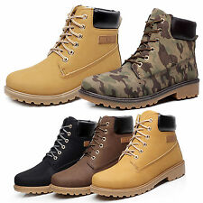 Mens Boy Army Combat Shoes Ankle Military Martin Boots Lace Up High Top Sneakers