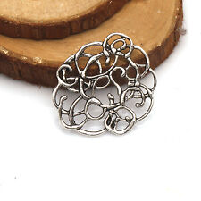 5/10/25/50 PCS  Flowers Tibetan Silver Jewelry Findings Connectors  Tibetan