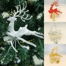 Home Christmas Tree Ornament Deer Chital Hanging Xmas Baubles Party Decoration