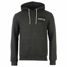 Soul Cal Fashion Pullover Hoody Mens Charcoal Marl Sweater Sweatshirt Jumper