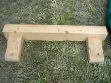 thick real wooden shelf and brackets ideal farmhouse etc l@@k