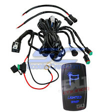 Marine Boat Lighted Whip Flag Off Shore Led Rocker Switch Wire Harness Blue Part